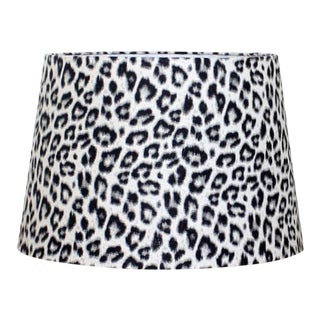 Leopard Print Tapered Drum Lamp Shade