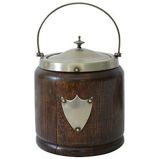 Vintage European Wooden Ice Bucket