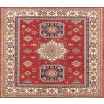 """Image of Tribal Kazak Design Wool Square Rug - 5'2"""" x 5''"""