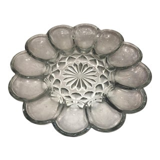 Mid-Century Oyster Glass Dish