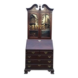 "Ethan Allen Cherry ""Georgian Court"" Style Secretary Desk Bookcase"