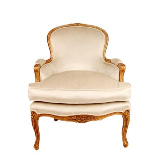 Gilt Wood Bergere Chair