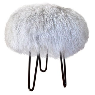Genuine Mongolian Lamb Stool
