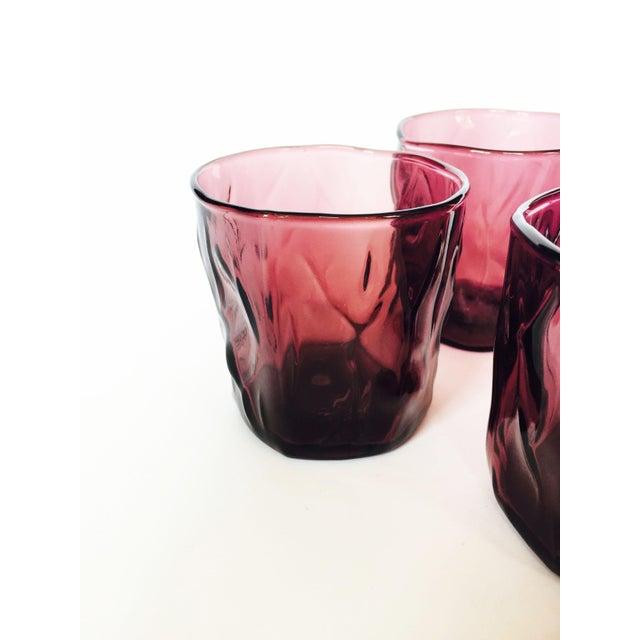 Vintage Purple Amethyst Glasses - Set of 4 - Image 4 of 4