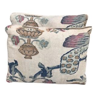 Vintage Printed Pillows - a Pair