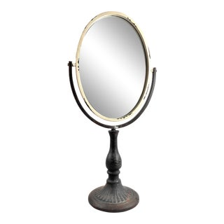 Antique Reproduction Victorian Candlestick Pedestal Vanity Mirror