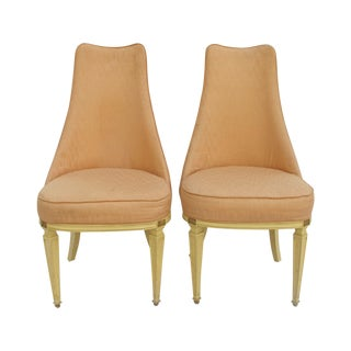 1970s Hollywood Regency Slipper Chairs - A Pair