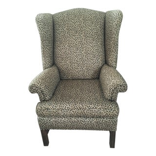 Antique Centennial Chippendale Wing Chair