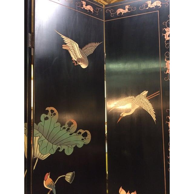 6 Panel Coromandel Folding Asian Screen - Image 5 of 8
