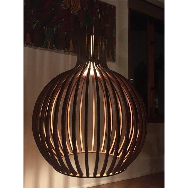 Wooden Slat Drum Pendant - Image 2 of 3