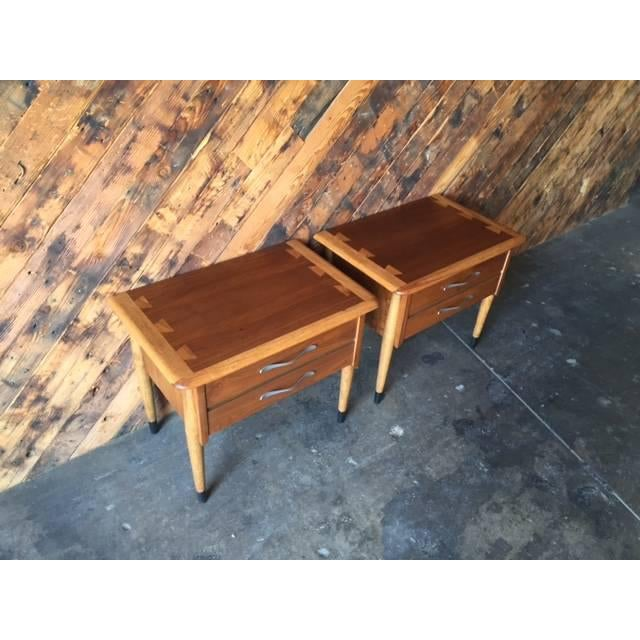 Lane Acclaim Mid-Century Walnut Nightstands - A Pair - Image 5 of 8