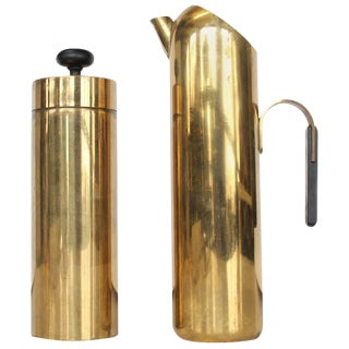 Mid-Century Italian Brass Cocktail Set