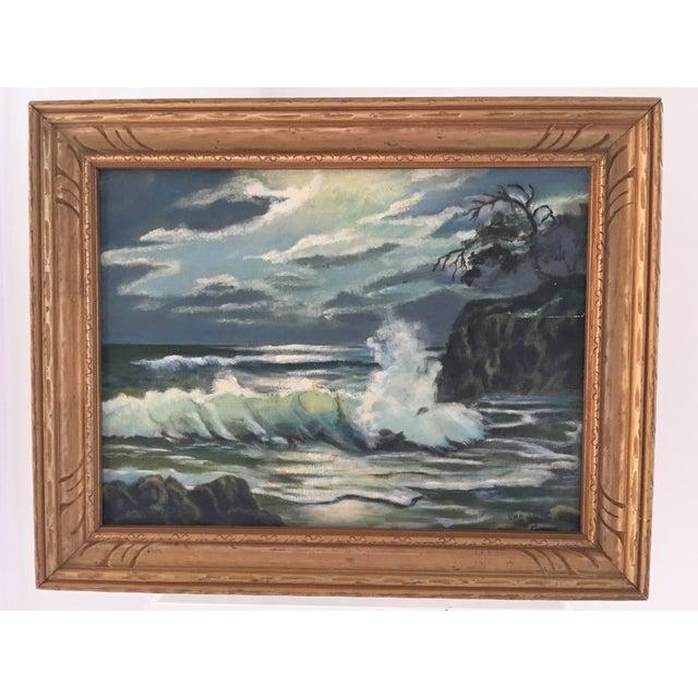 Coastal Seascape Oil Painting - Image 3 of 6