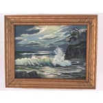 Image of Coastal Seascape Oil Painting