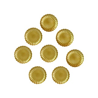 Vintage Gold Mid-Century Japanese Plates - Set 8