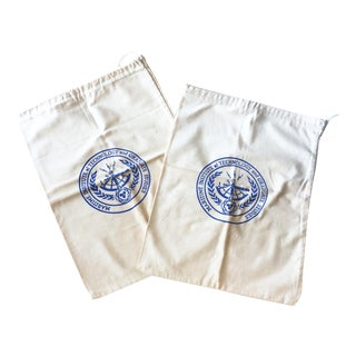 Vintage Nautical Drawstring Bags - a Pair