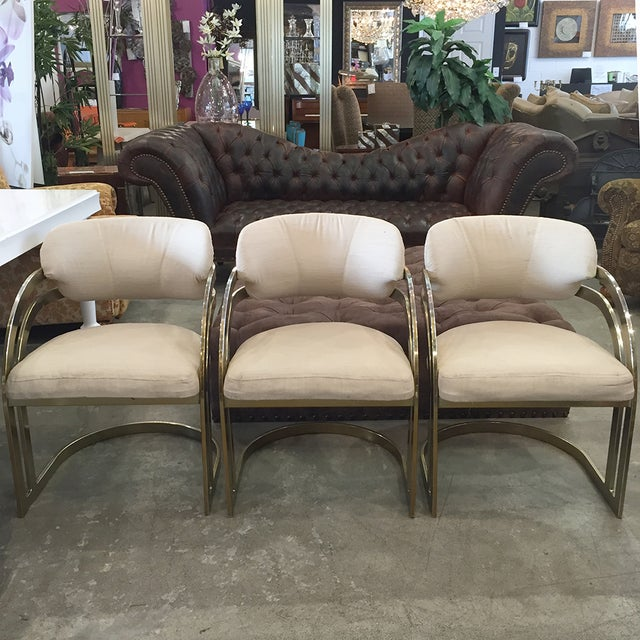 Image of Milo Baughman-Style Vintage Armchairs - Set of 3