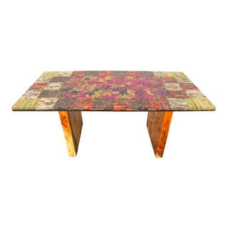 Organic Modern Autumn Leaves Dining Table