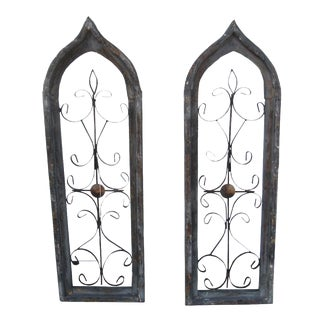 Architectural Cathedral Shaped Windows - A Pair