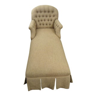 Tufted Brown Chaise