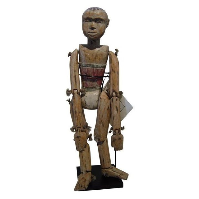 Vintage Wood Performance Puppet From Java - Image 1 of 3