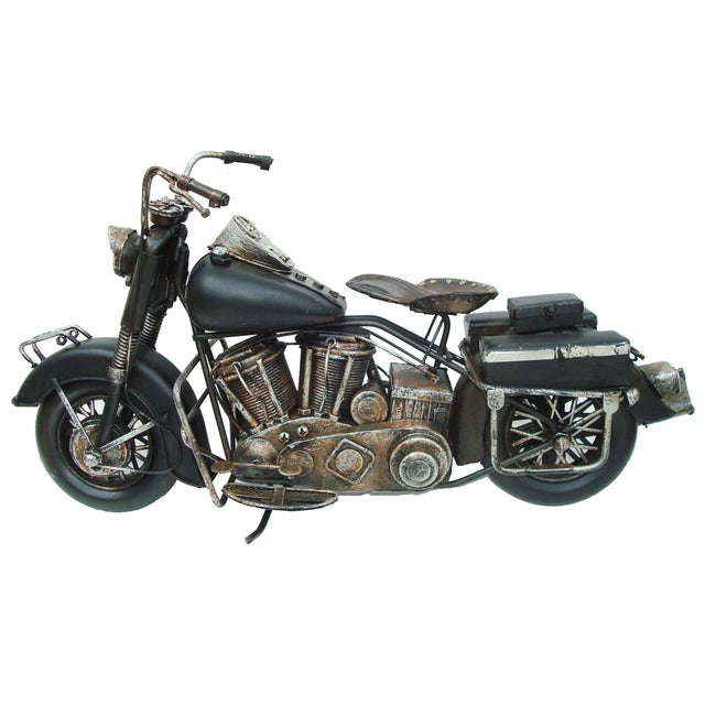 Metal Motorcycle With Moving Parts - Image 2 of 7