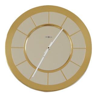 Howard Miller Brass Wall Clock