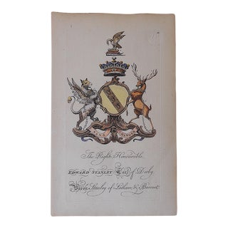 Antique Heraldry Print - E. Stanley Earl of Derby