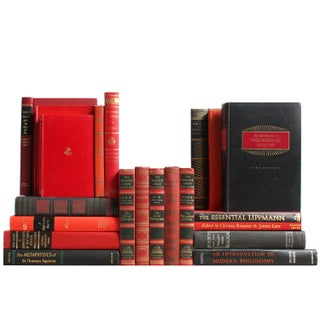 Philosophy Library: Red & Black - Set of 20