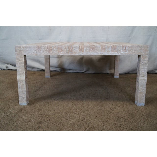 Image of Jonathan Charles Houndstooth Parsons Coffee Table