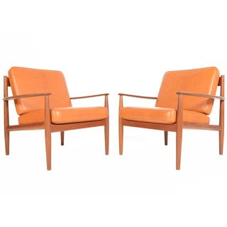 Grete Jalk Teak Lounge Chairs - A Pair