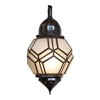 Glass & Iron Honeycomb Lantern