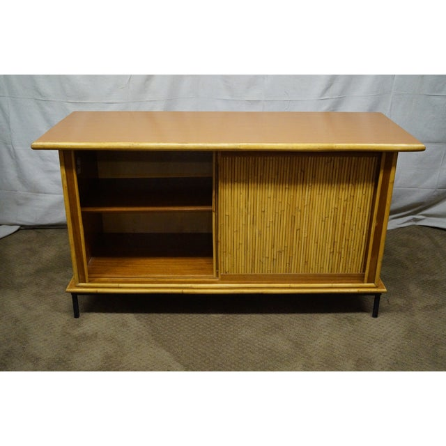 Mid-Century Bamboo Rattan Sideboard Credenza - Image 5 of 10