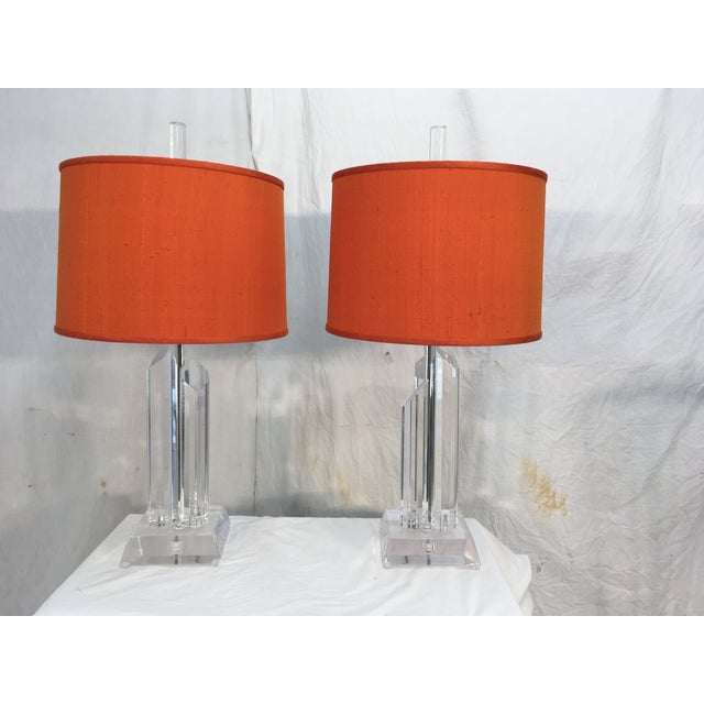 Mid-Century Acrylic Lamps - a Pair - Image 2 of 11
