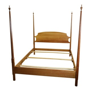 Stickley Solid Cherry Natural Finish Queen Size Poster Bed