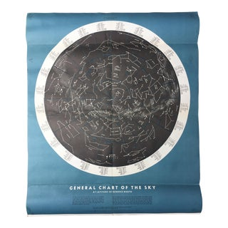 Mid-Century Astronomy Star Chart Poster