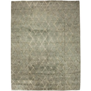 "New Moroccan Hand Knotted Area Rug - 7'9"" x 10'"