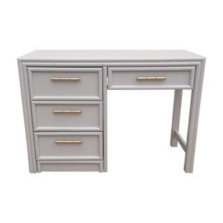 Gray Bamboo Desk