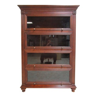 Ethan Allen British Classics Barrister Book Case Library Display Cabinet