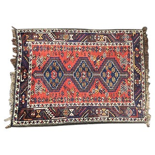 1910 Persian Tribal Rug from Sharas - 3′8″ × 4′10″