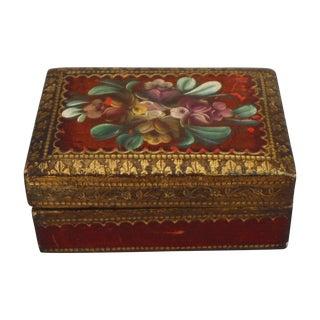 Florentine Red & Gilded Wood Box