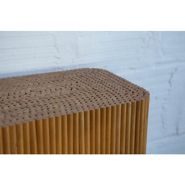 Wood Dowel Accent Table - Image 4 of 5