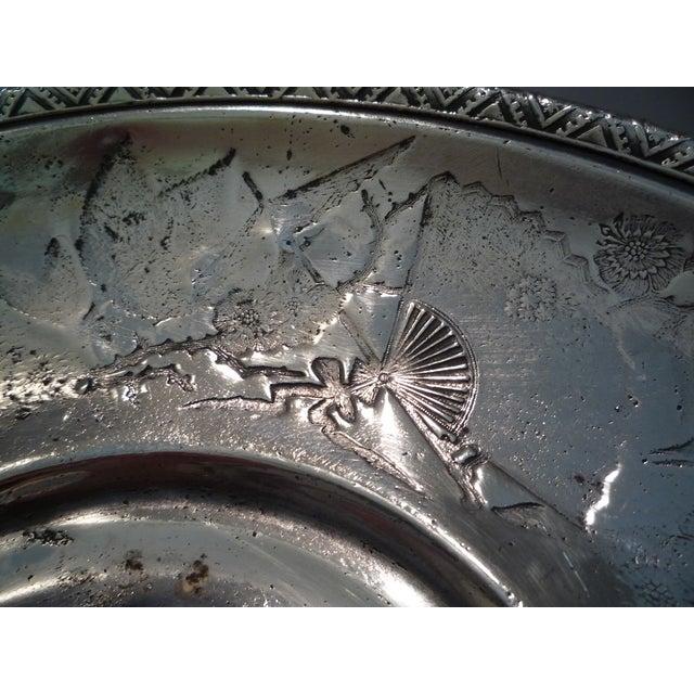 Image of Antique Meriden Silver Plate Bride's Basket