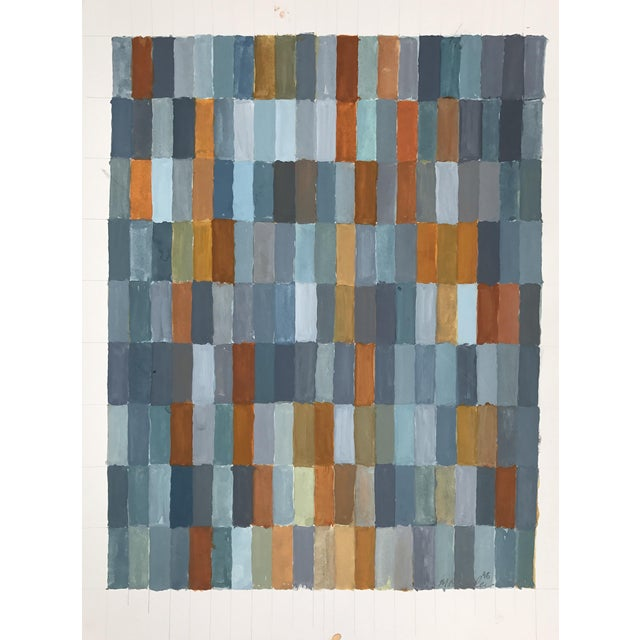 Image of Color Study in Orange, Blue & Gray