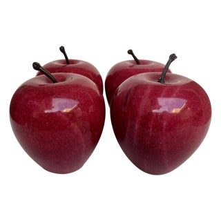 Red Marble Apples - Set of 4