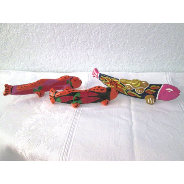 Vintage Mexican Hand Made Maraca Fish - 3 - Image 2 of 7