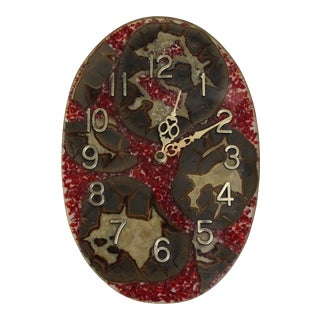 Mid-Century Vintage Resin Agate Clock