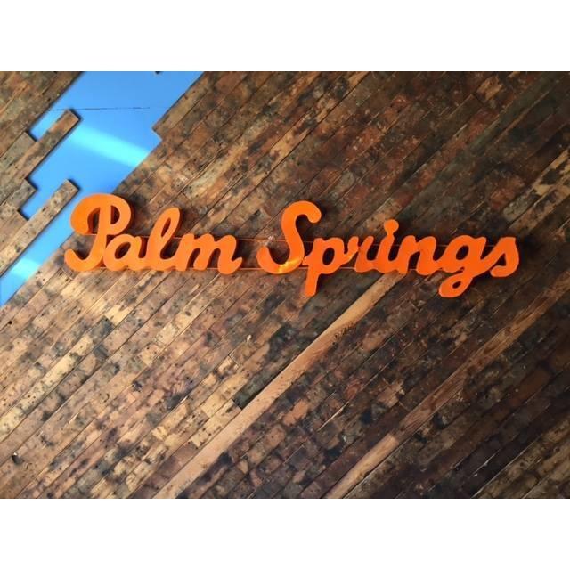 Industrial Orange Palm Springs Metal Sign - Image 2 of 3