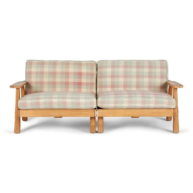 A. Brandt Ranch Textured Oak Seating Set - Image 5 of 9