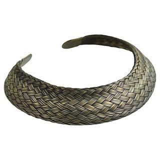 Woven Bronze Metal Choker